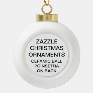 Custom POINSETTIA Ball Christmas Ornament Template