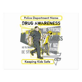 Custom Police Drug Awareness Postcard