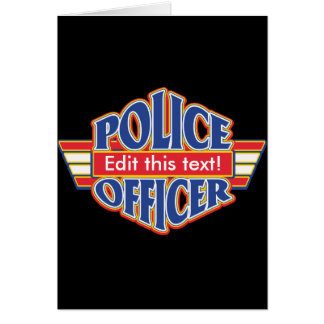 Custom Police Officer Card