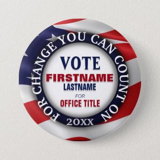Custom Political Button USA Flag