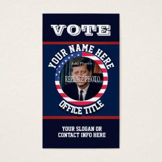 Custom Political Campaign Template Business Card