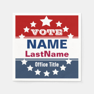 Custom Political Election Campaign Template Paper Napkin
