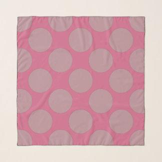 Custom Polka Dots on Pink Scarf