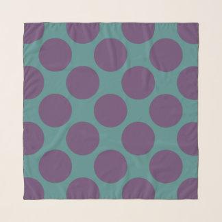 Custom Polka Dots on Teal Scarf