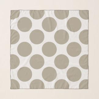 Custom Polka Dots on White Scarf