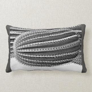 "Custom Poly Lumbar Pillow ""Saguaro Arm in B&W"""