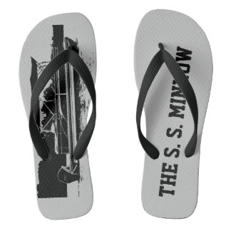 Custom Pontoon Boat Flip Flops in Gray