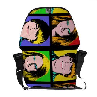 Custom Pop Art Teen Quad Design Messenger Bags