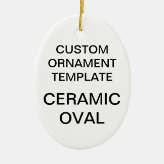 Custom Porcelain Oval Christmas Ornament Template