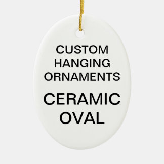 Custom Porcelain Oval Christmas Tree Ornament