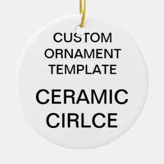 Custom Porcelain Round Christmas Ornament Template
