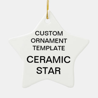 Custom Porcelain Star Christmas Ornament Template