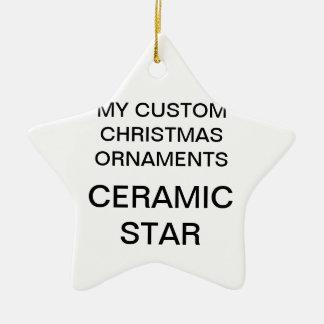 Custom Porcelain Star Christmas Tree Ornament