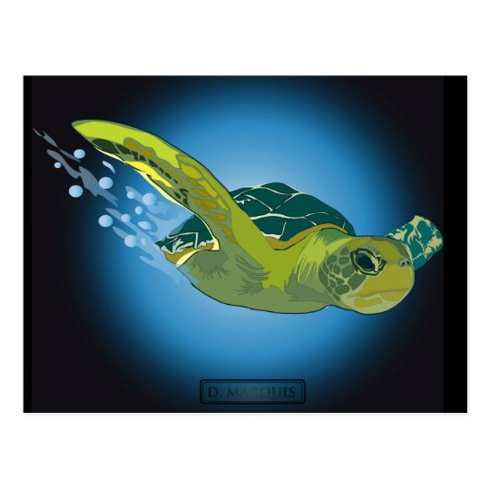 CUSTOM POSTCARDS- SEA TURTLE POSTCARD
