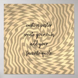custom poster add a quote geometric pattern