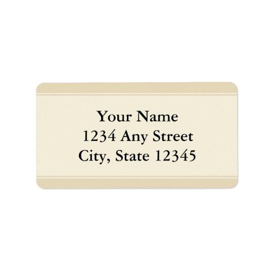Custom Pre-Printed Address Labels - Ecru and Beige