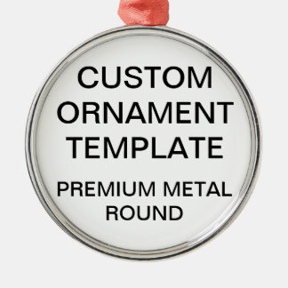Custom Premium Round Christmas Ornament Template