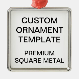 Custom Premium Square Christmas Ornament Template