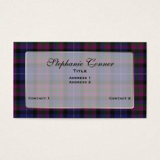 Custom Pride of Scotland Colorful Plaid Business Card
