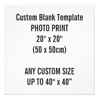 "Custom Print 20"" x 20"" Photo Print Blank Template"