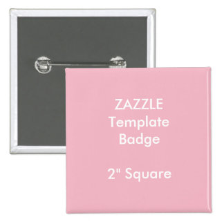 """Custom Print 2"""" Square Badge Blank Template 2 Inch Square Button"""