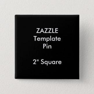 "Custom Print 2"" Square Pin Blank Template"