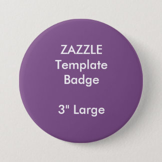 """Custom Print 3"""" Large Round Badge Blank Template 3 Inch Round Button"""