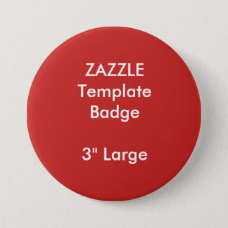 "Custom Print 3"" Large Round Badge Blank Template 3 Inch Round Button"