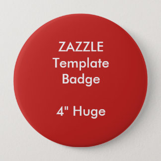 "Custom Print 4"" Huge Round Badge Blank Template 4 Inch Round Button"