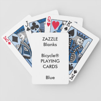 Custom Print Bicycle® BLUE Playing Cards Blank