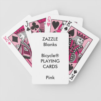 Custom Print Bicycle® PINK Playing Cards Blank
