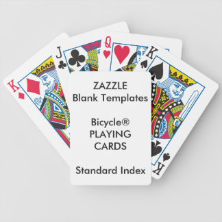 Custom Print Bicycle® STANDARD INDEX Playing Cards