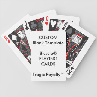 Custom Print Bicycle Tragic Royalty™ Playing Cards