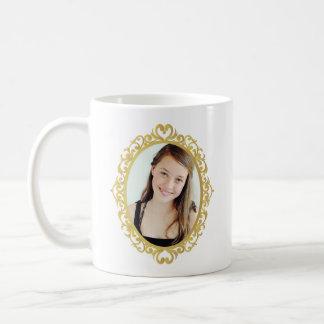 CUSTOM PRINT COFFEE MUG WITH ROUND FRAME