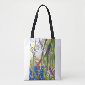Custom Print Dragonflies Tote Bag