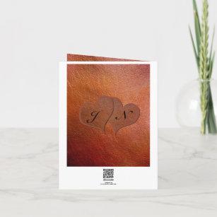 Custom Print Faux Leather 3rd Wedding Anniversary Card