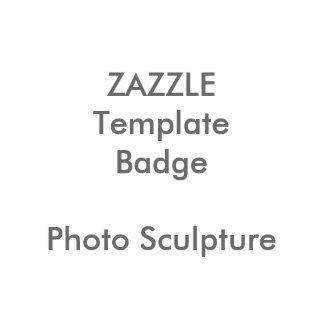 Custom Print Photo Sculpture Badge Blank Template
