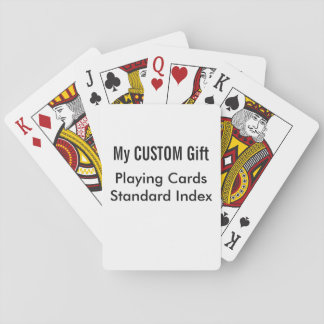 Custom Printed STANDARD INDEX Playing Cards