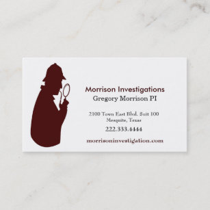 Custom Private Investigation Business Card
