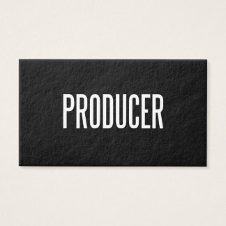 Custom Producer business card (premium paper)