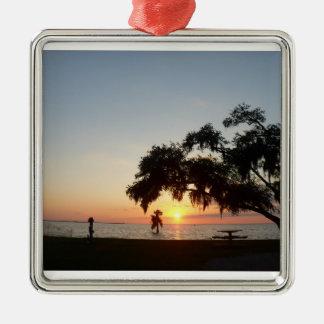 Custom Products Silver-Colored Square Ornament