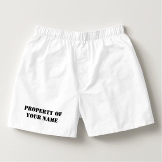 Custom property of boxer shorts and briefs for men boxers
