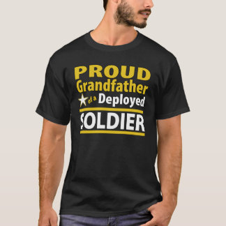 Custom Proud Grandfather of a Deployed Soldier T-Shirt