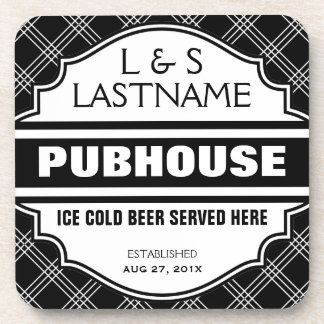 Custom Pubhouse Home Bar Beer Sign Coaster
