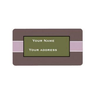 Custom Purple Address Labels