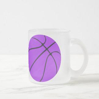 Custom Purple Basketball Frosted Mug