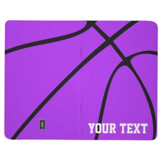 Custom Purple Basketball Notepad Journal