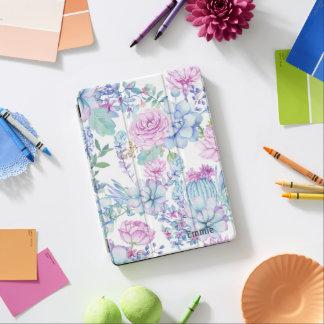 Custom Purple Blue Succulents iPad Pro Cover