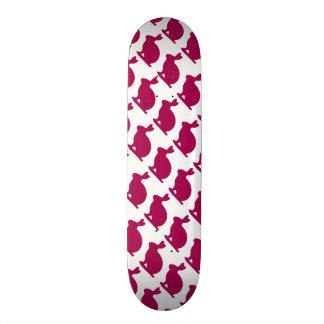 Custom Purple Bunny Rabbit Silhouette Skate Board