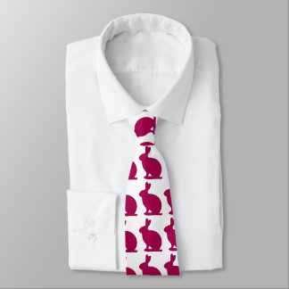 Custom Purple Bunny Rabbit Silhouette Tie